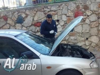 إضرام النيران بسيارة مواطن من ديرحنا واعتقال مشتبه