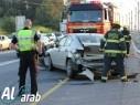 إصابة شخصين بجراح متوسطة في حادث طرق على مفرق حريش أم القطف
