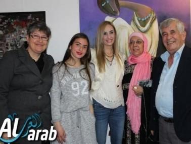 الناصرة: الاحتفال بافتتاح معرض قلق المشمش
