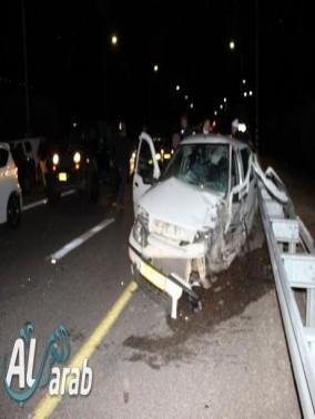 اصابة شخصين بجراح متوسطة في حادث طرق قرب كرمئيل