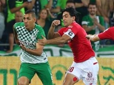 صور من تأهل فريق مكابي حيفا الى نهائي كأس الدولة