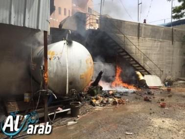 الرينة: اندلاع النيران قرب خزان وقود
