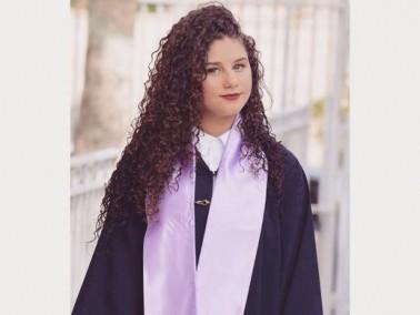 الطالبة فاتنة أبو حامد تحصل على شهادة امتياز