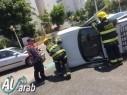حادث بين سيارتين في نهاريا وانقاذ مصابين