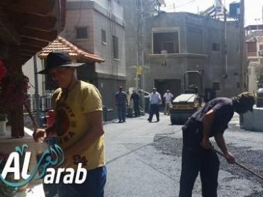 مجلس دير الاسد المحلي يواصل تعبيد الشوارع