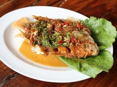 طبق اليوم: سمك الهامور بصلصة البندورة الحارة