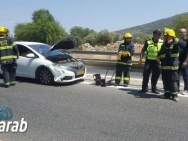 حادث طرق بين الرامة وكرميئيل بدون إصابات