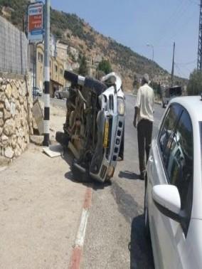 حادث طرق قرب الرامة ونقل مصاب للعلاج