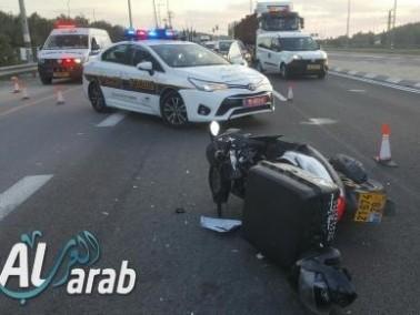 حادث طرق على شارع 65 وادي عارة