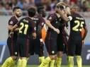 مانشستر سيتي يسحق ستيوا بوخارست في الدور التمهيدي من دوري الأبطال