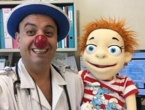 ليدي- المهرج الطبي سرحان محاميد يرسم البسمة على وجوه الاطفال المرضى