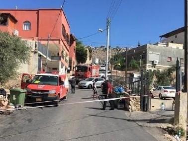إخلاء منزل في دير الأسد بعد سكب مادة بيضاء
