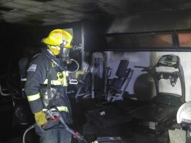 اندلاع حريق في ناد رياضي في وادي سلامة