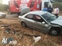حادث طرق على مفرق شعب يسفر عن إصابتين متوسطتين
