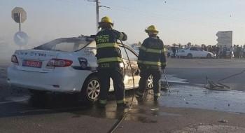 اصابة 6 اشخاص بحادث بين سيارة شرطة وخصوصية في الجنوب