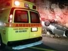 اصابة شخص بجراح متفاوتة بعد انقلاب سيارة بالقرب من كفركنا