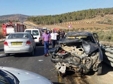 حادث طرق بين عرابة ووادي سلامة