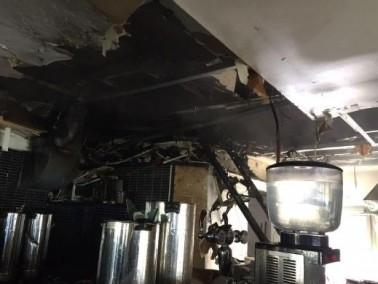 إندلاع حريق في مطعم العجوز والبحر في يافا