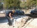 مجد الكروم: انطلاق فعاليات النحت على الحجر بمشاركة العديد من الفنانين
