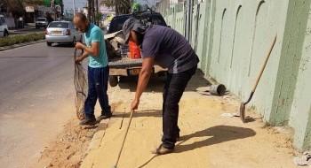 ينابيع المثلث: قمنا بتصليح ارصفة وتعبيد شوارع بعد اعمال حفريات بالطيرة