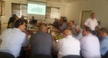 عرض آخر مستجدات الخطة الخمسية للسلطات البدوية ضمن إجتماع في مجلس الشبلي أم الغنم