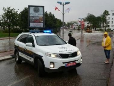 فيضانات في ايلات واغلاق شوارع
