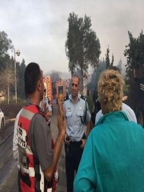 إندلاع حريق في منطقة حرشية بالقرب من كفرسميع