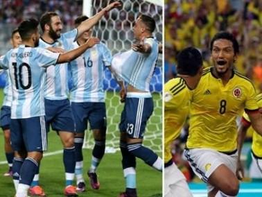 ميسي والأرجنتين في استقبال منتخب كولومبيا
