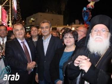 الناصرة: إضاءة شجرة الميلاد في ساحة البشارة