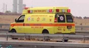 إصابة رجل (45 عامًا) بجراح متوسطة في حادث طرق على شارع 395
