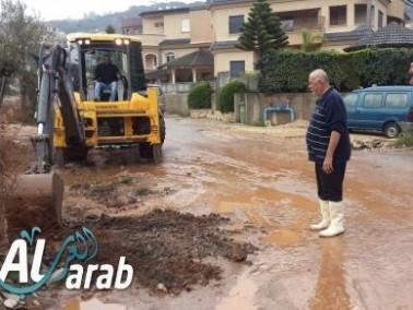 ديرحنا: مياه الأمطار الغزيرة تتسبب بفيضانات