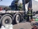 مصرع رجل في حادث طرق مروع بين 4 شاحنات قرب مفترق سومخ - ياچور