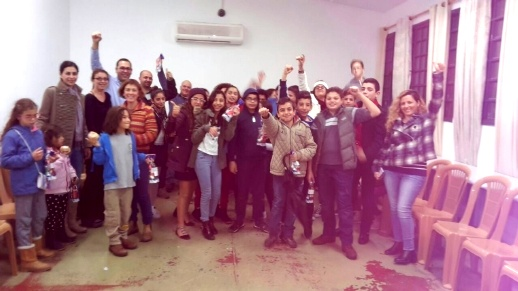 تعارف بين طلاب عرب ويهود في تيراسنطا الرملة