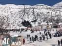 بالصور: جبل الشيخ يعجّ بالزوار بعد اكتسائه بالثوب الابيض
