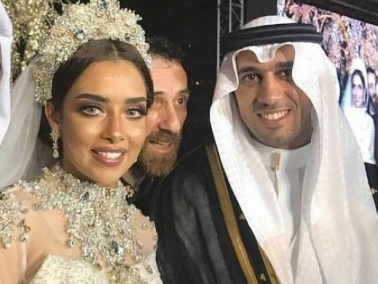 بلقيس تزف إلى عريسها السعودي في ليلة أسطورية