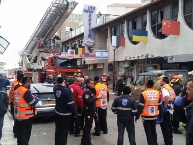 اندلاع حريق في صالة فندق في صفد واصابة 15 شخصًا