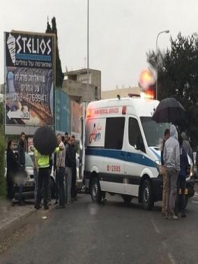 إصابة سائق دراجة نارية جراء حادث طرق في كفرياسيف