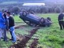 إصابة شاب بجراح خطيرة اثر انقلاب سيارة بالقرب من بلدة كفر مصر