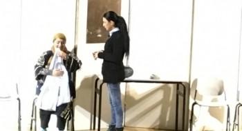 مسرحية سامي وليلى لرفع الوعي لدى طلاب المدرسة التكنولوجية في جلجولية