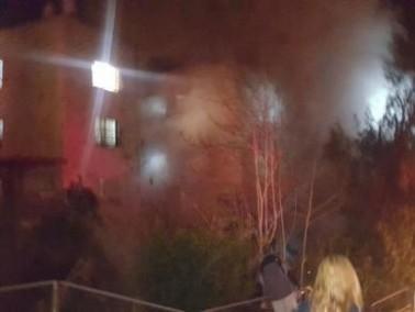 انفجار اسطوانات غاز واشتعال النيران في حي راموت