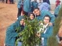 جسر الزرقاء: تكليل مدرسة السلام الاعدادية بالأشجار والورود بأجواء مميزة