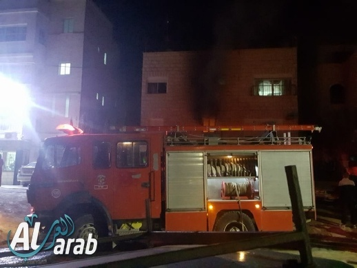 كفركنا: اندلاع النيران بأحد المنازل دون وقوع اصابات