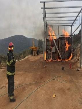 إشتعال النيران في خزانات للسولار في بلدة المغار