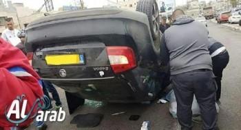 سخنين: إصابة شاب من سخنين بجراح متوسطة بعد إنقلاب سيارته