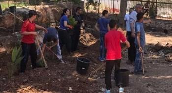 يوم العمل التطوعي والانتماء في اعدادية البيروني الجديدة