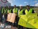 أهالي جت وباقة يتظاهرون احتجاجا على خطورة شارع 574