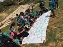 طلاب دورات الجوّالة التّابعة لجمعيّة حماية الطّبيعة في جولة شيّقة في وادي الحبيس