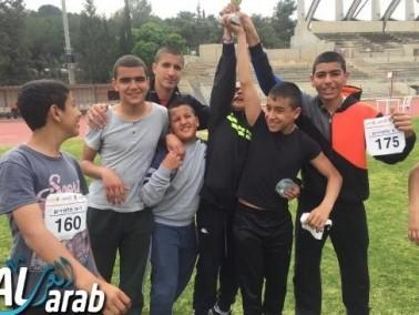 معاوية الإعدادية تتألق في مسابقات القوى- لواء حيفا