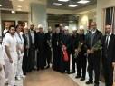 وفد من جميع الديانات والطوائف في زيارة مستشفى زيف بأجواء من التسامح والاخوة