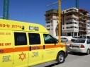 اصابة متوسطة لعامل إثر سقوطه في كريات آتا